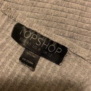 Topshop Tops - TopShop Grey Ribbed Crop Size M